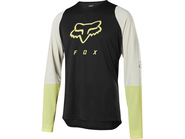 Fox Defend Fox Head Langærmet cykeltrøje Herrer, black/yellow